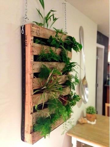 Самодельный деревянный каркас для вертикального озеленения