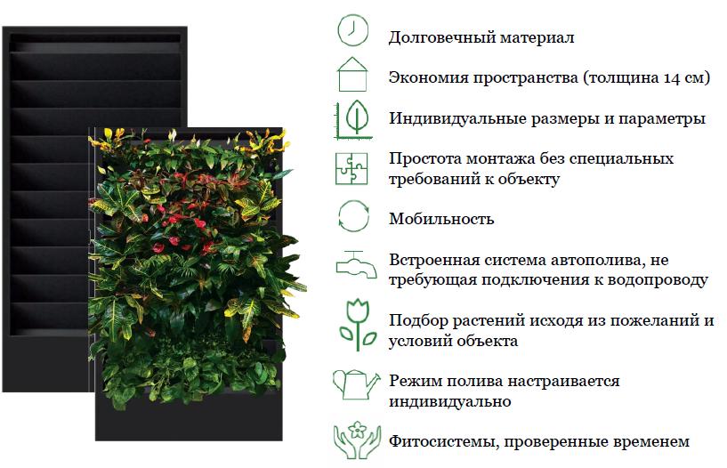 Фитомодули под заказ для вертикального озеленения